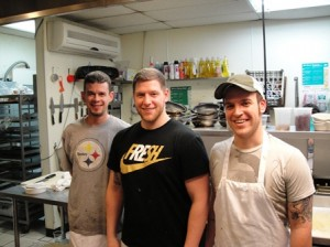 Square Cafe's Kitchen Staff, Jacob, Carson, and Ryan