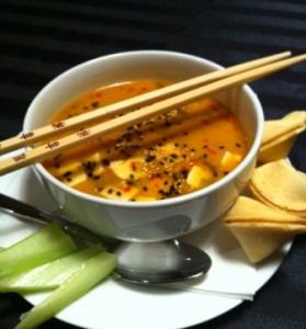 Sweet and Sour Thai Peanut Soup