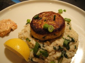 Crabcakes with Risotto
