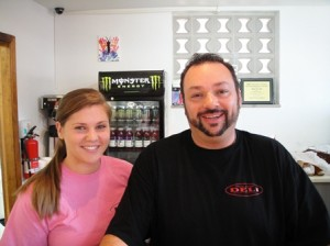 Owner Bruce Barnes and Manager Sara Kosko
