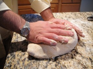Kneading the Pizza Dough
