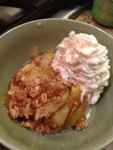 Baked Spiced Apples with Oats and Fresh Cream