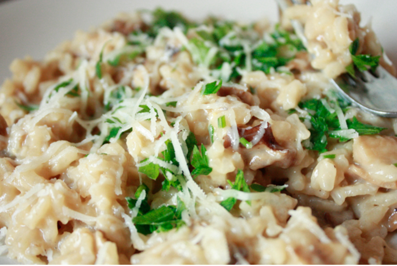 Wild Mushroom Risotto - Cooks and EatsCooks and Eats