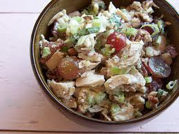Chicken Salad with Tarragon, Grapes, and Pecans