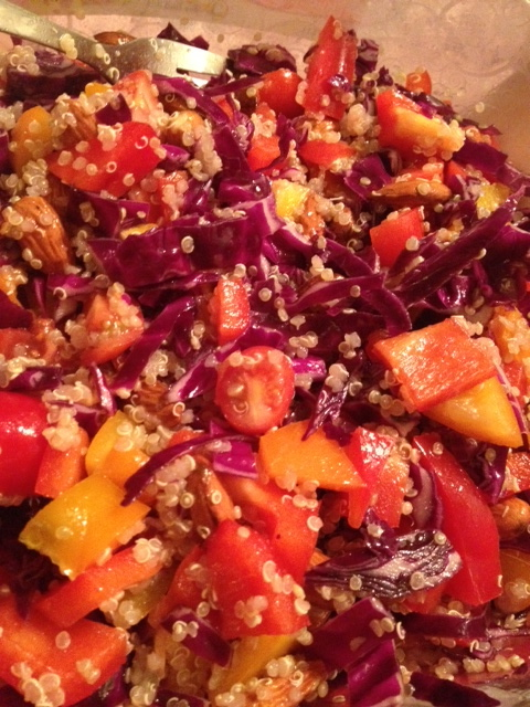 Quinoa Salad with Red Cabbage and Almonds - Cooks and EatsCooks and ...