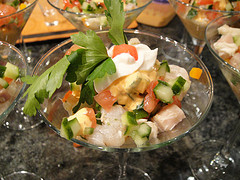 Mango Ceviche with Shrimp, Scallops, and Chilean Sea Bass