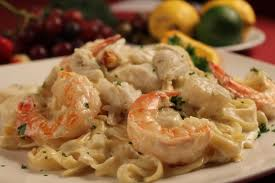 Seafood Alfredo with Scallops, Shrimp, and Crab