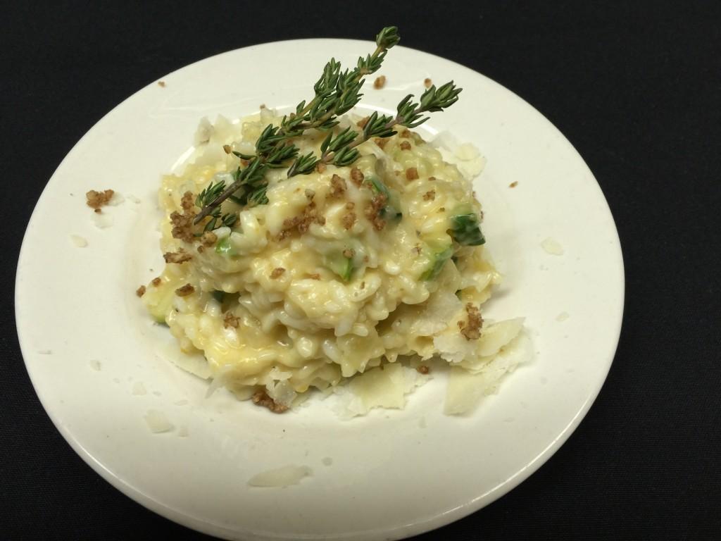 Risotto with Butternut Squash, Zucchini, and Mascarpone Cheese