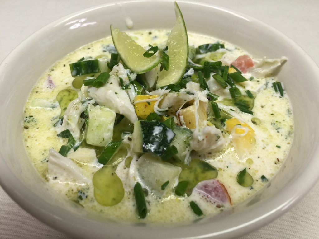 Chilled Crab and Cucumber Soup
