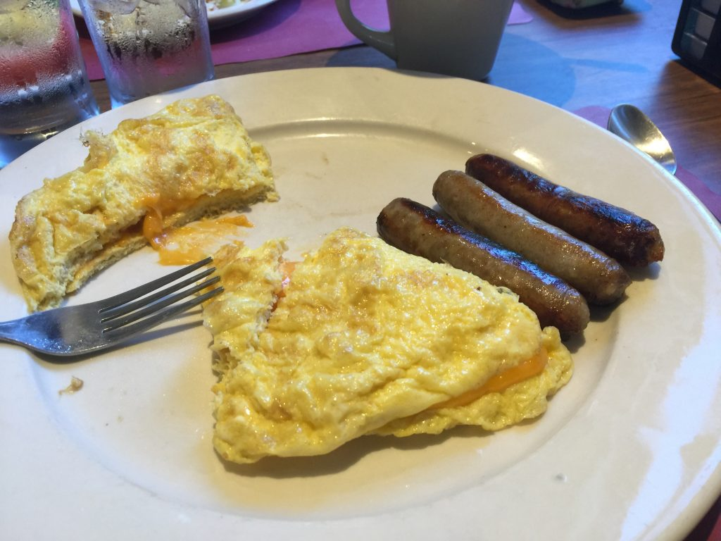 Omelette and Sausage