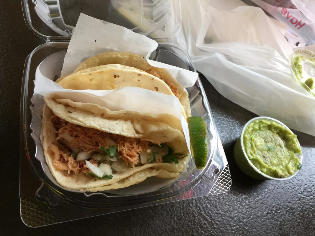 Soft Chicken Tacos with Guacamole